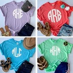 Short Sleeve Center Front Monogram Flash Sale