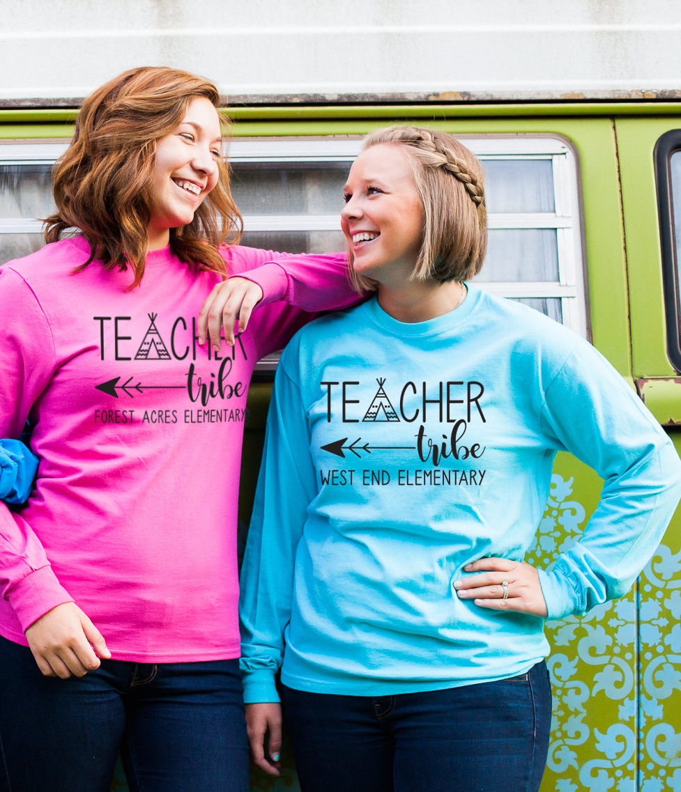 Long Sleeve Teacher Tribe