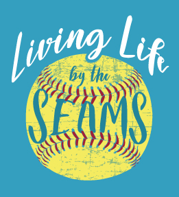 Softball Living Life by the Seams T-Shirt