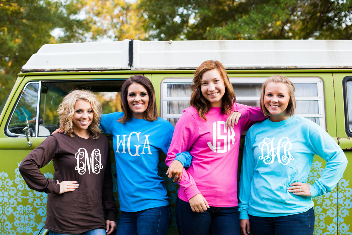 ADULT Long Sleeve Center Monogram