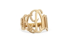 Cutout Monogram Ring