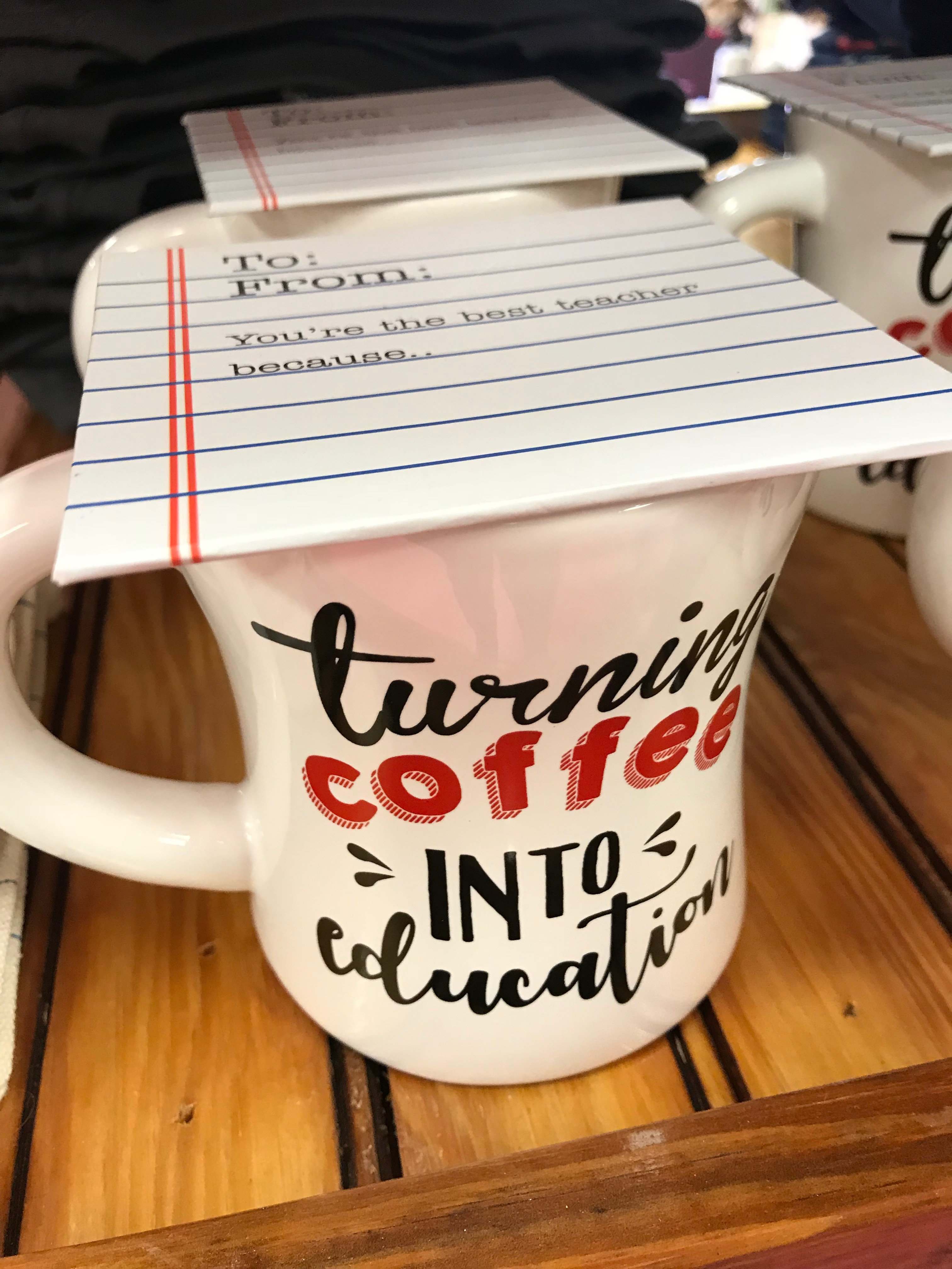 Mudpie Turning Coffee into Education Mug
