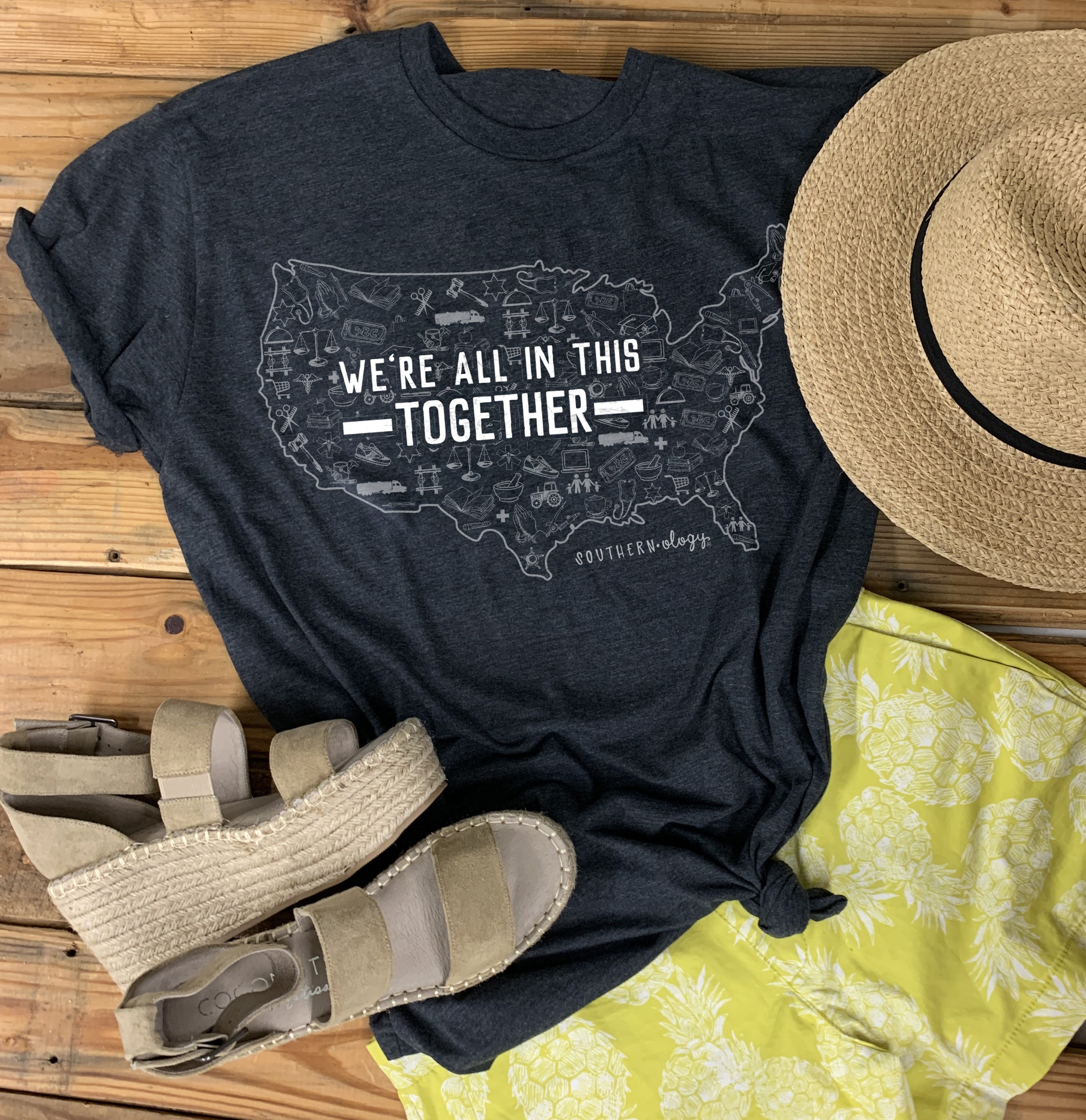 We're all in this Together Statement Tee
