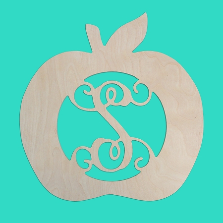 18 Inch Single Initial Apple Wood Monogram