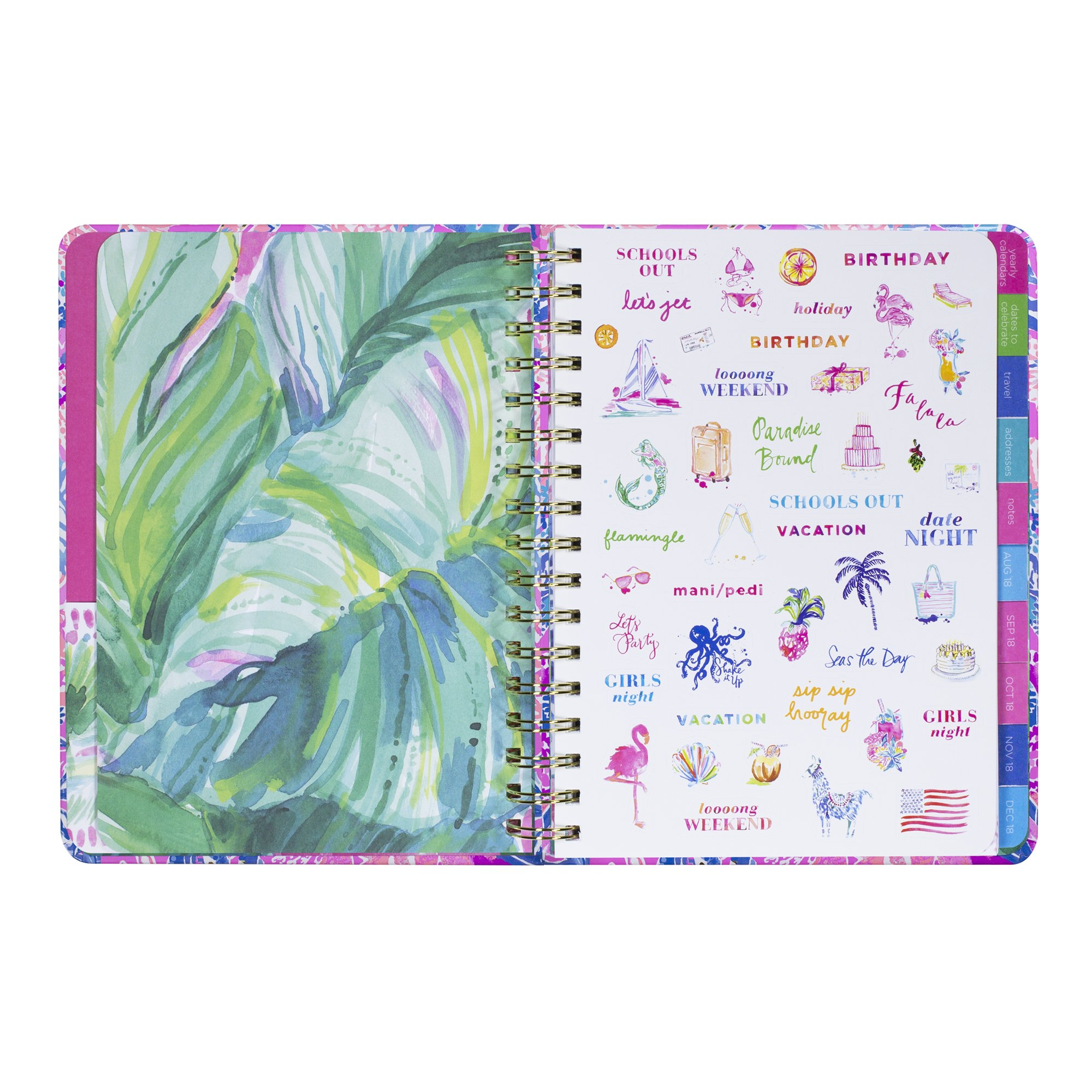 Large 17 Month Spiral Lilly Pulitzer Agenda 2019