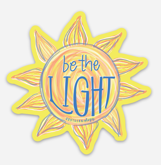 Southernology® Be the Light Sun Decal