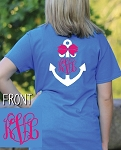 Preppy Bow Anchor Monogram T-shirt