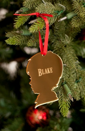 Hanging Christmas Ornaments Silhouette.Boy Silhouette Mirrored Acrylic Ornament