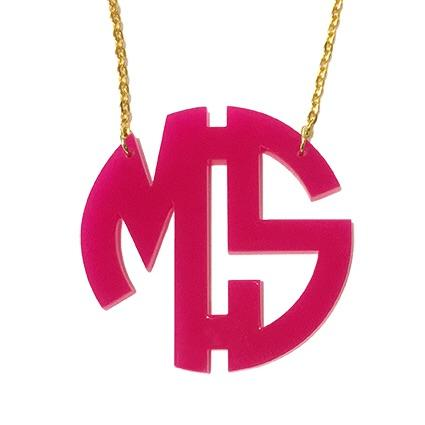 Two Initial Monogram Necklace