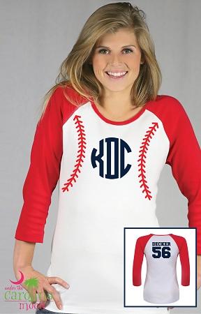 04b3b3e82 Add to My Lists. Raglan Baseball Monogram Shirt ...