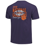 2018 Clemson National Championship Purple Football T-shirt