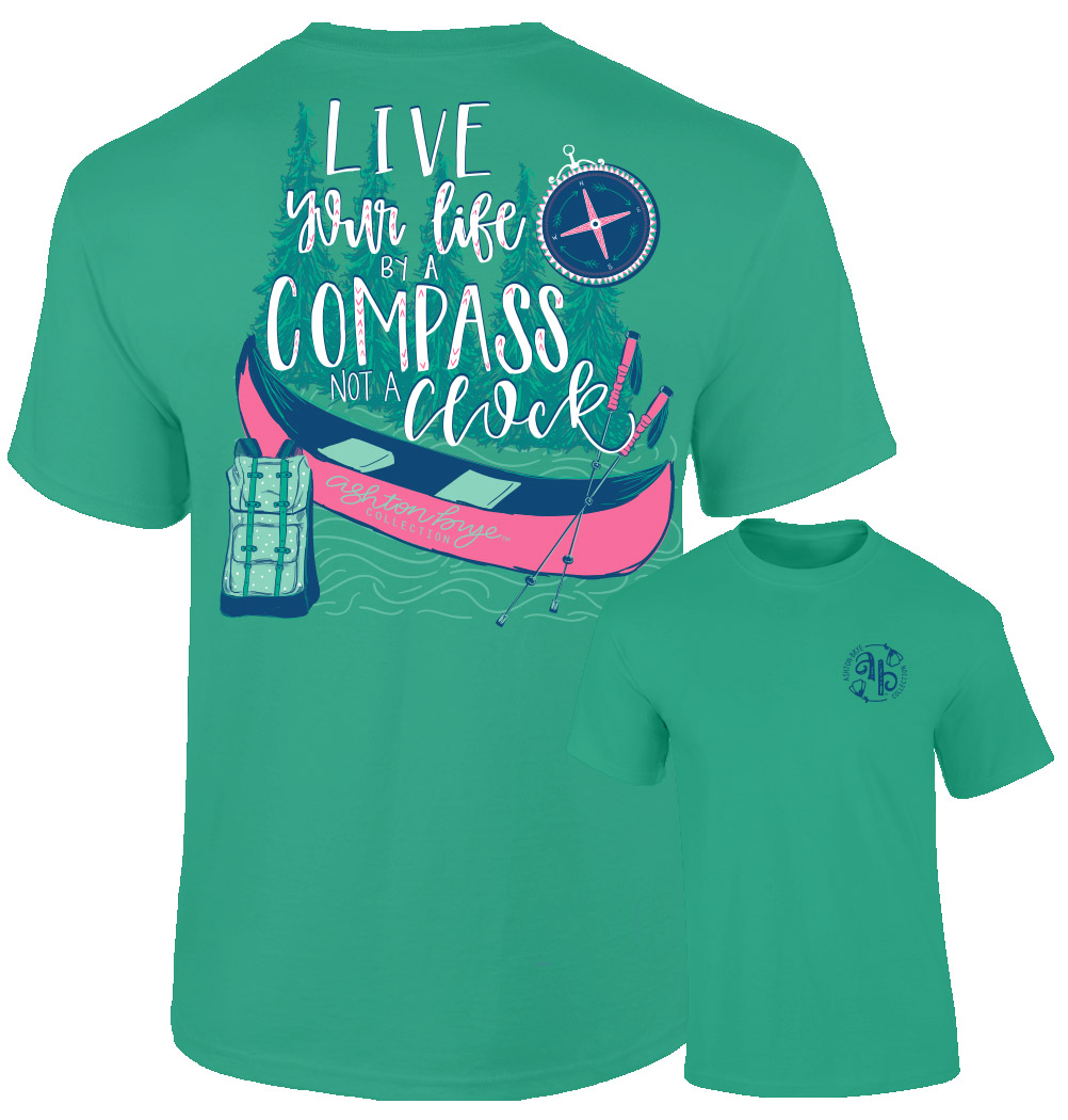 Ashton Brye™ Live Your Life Compass T-Shirt