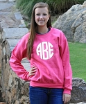 Center Monogram Crew Neck Sweatshirt