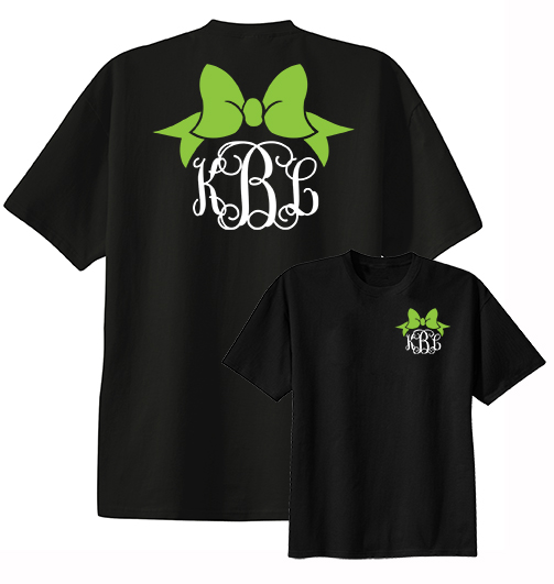 Preppy Bow Monogram Shirt