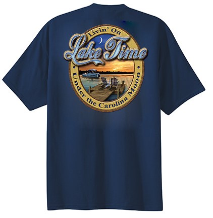 Under the Carolina Moon® Livin' on Lake Time  T-shirt