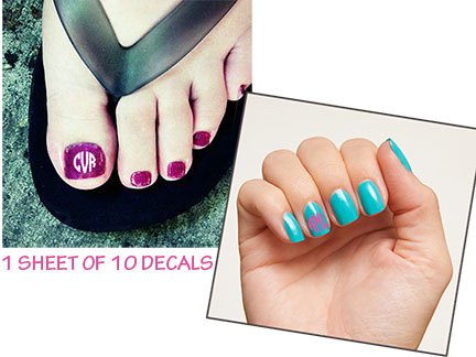 Monogram Nail Decal