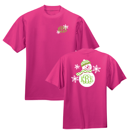 Preppy Snowman Monogram Shirt