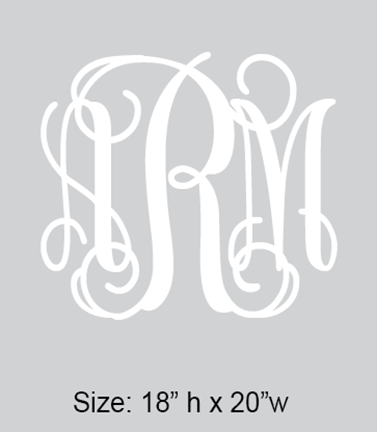Wall Monogram Decal
