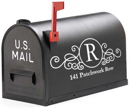 Mailbox Monogram Decal