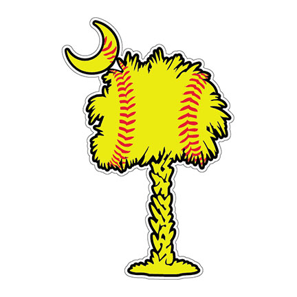 Softball Tree Decal