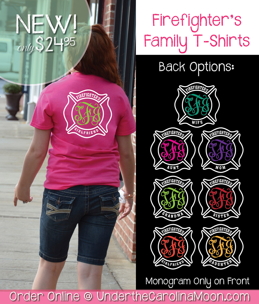 Firefighter Family Monogram Shirt
