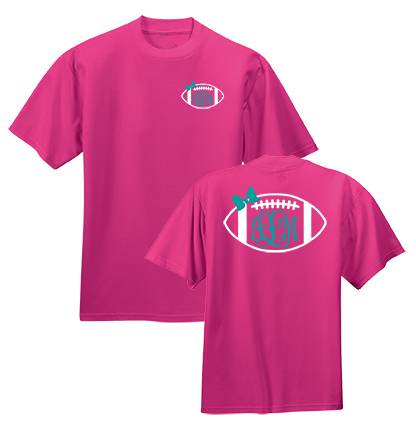 Preppy Football  Monogram Shirt