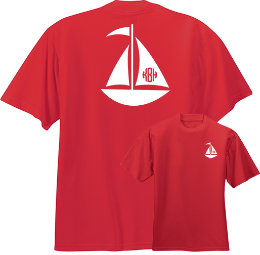 Sailboat Monogram T-shirt