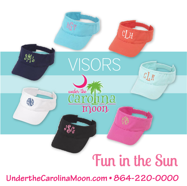 Preppy Monogram Visors