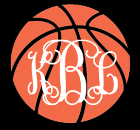 Preppy Basketball  Monogram Decal