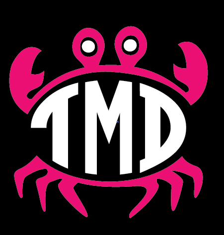 Preppy Crab Monogram Decal