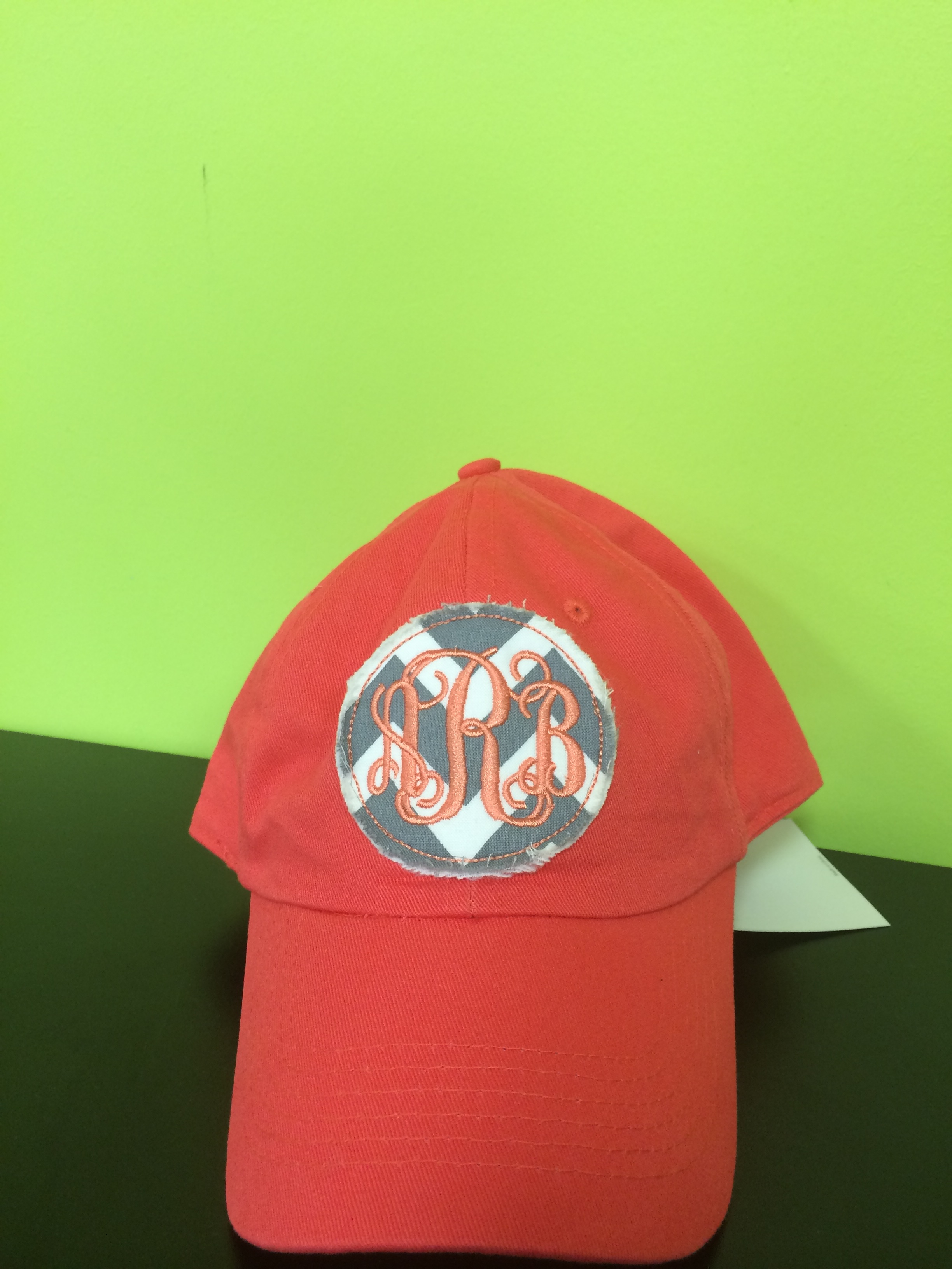 Chevron Applique Monogrammed Hat