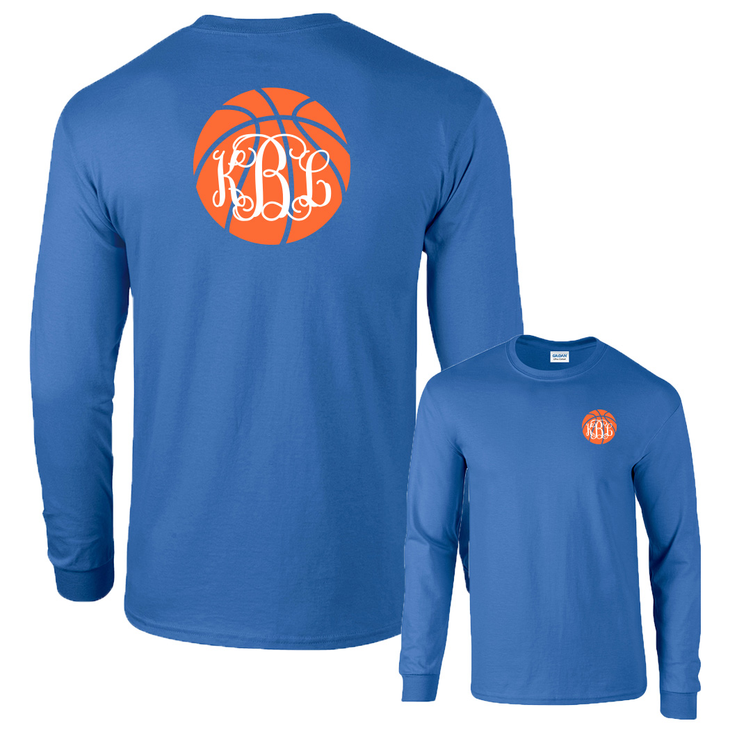 Preppy Basketball Monogram Shirt Long Sleeve