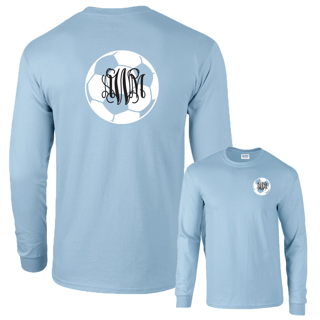Preppy Soccer Monogram Shirt  Long Sleeve