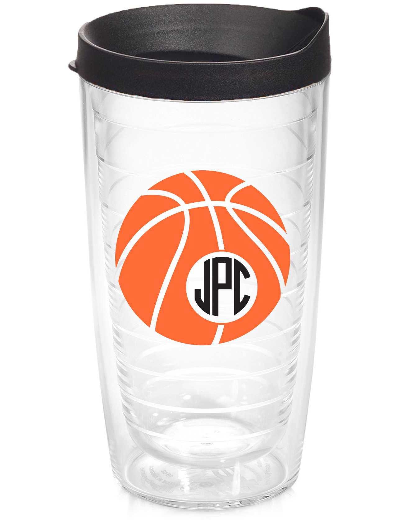 Basketball Circle Monogram Tervis Tumbler