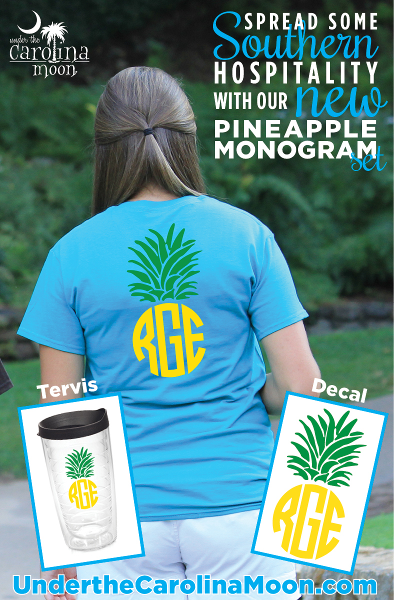 Circle Pineapple Monogram TShirt