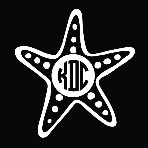 Starfish Monogram Car Decal