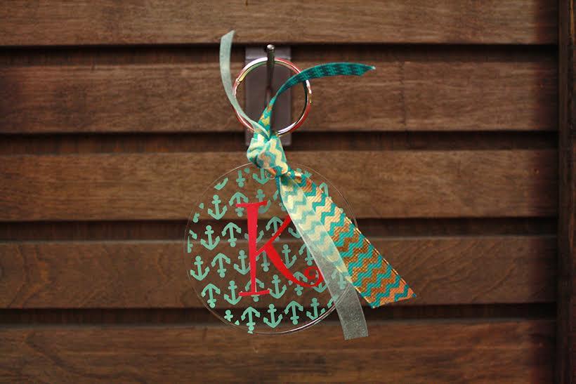 Custom Acrylic Monogrammed Keychain