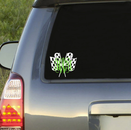 Preppy Racing  Monogram Decal