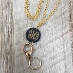 Engraved Monogram Lanyard