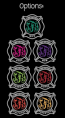 Firefighter Family Monogram Decal