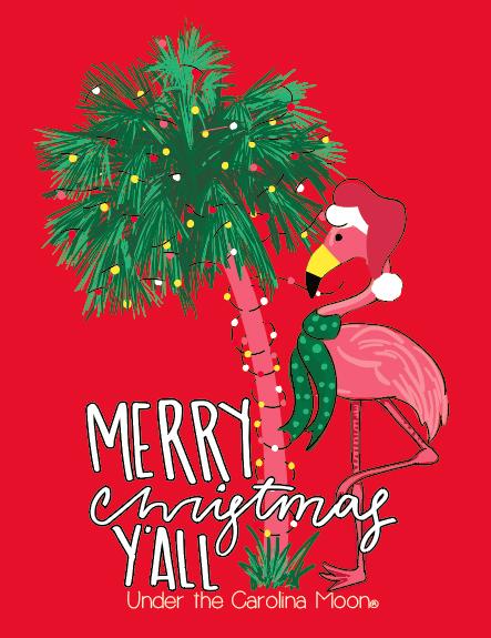 flamingo christmas yall long sleeve - Flamingo Christmas
