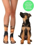 Living Royal German Shepard Paw Crew Socks