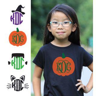 580d324f1f6 Add to My Lists. Preppy Halloween Monogram Shirt