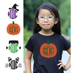 Preppy Halloween Monogram Shirt