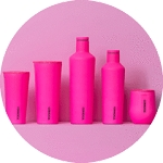 Corkcicle Neon Pink Collection (Prices Vary)