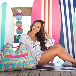2019 Patterned Beach Bag