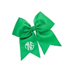 Monogrammed Green Hair Bow