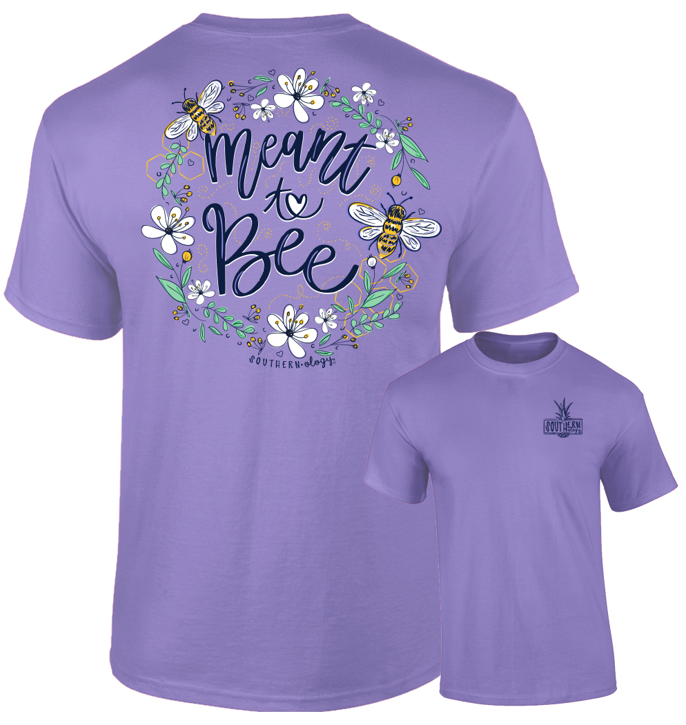 Southernology® Meant To Bee-Violet Short Sleeve