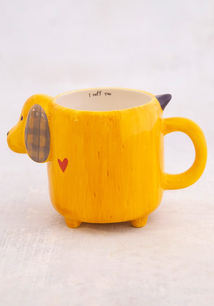 Natural Life Yellow Dog Folk Mug