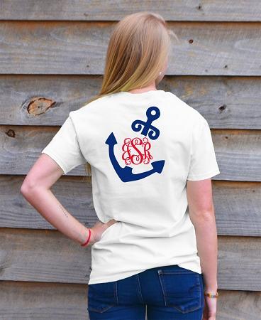 cb47b8e19 Add to My Lists. Nautical Vines Anchor Monogram T-shirt